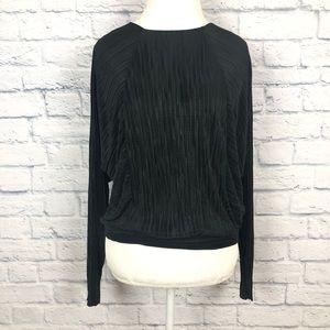 Zara W&B black blouse size large